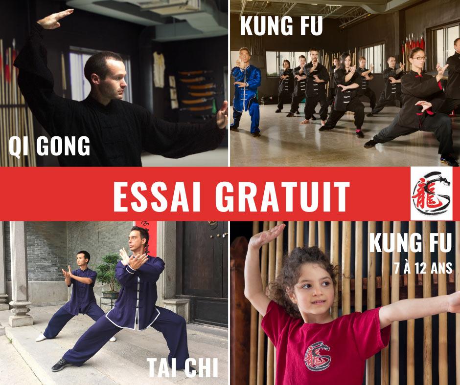 Tai chi - Kung Fu - Qi Gong et Kung Fu pour enfants